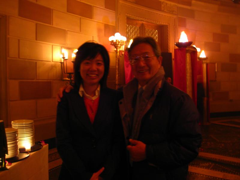 Mr. Han Lim, the founder and teacher with granddaughter at Gotham Hall